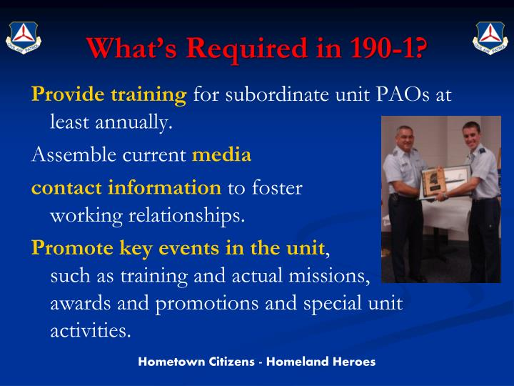 What's Required in 190-1?