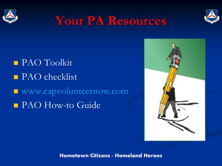 Your PA Resources