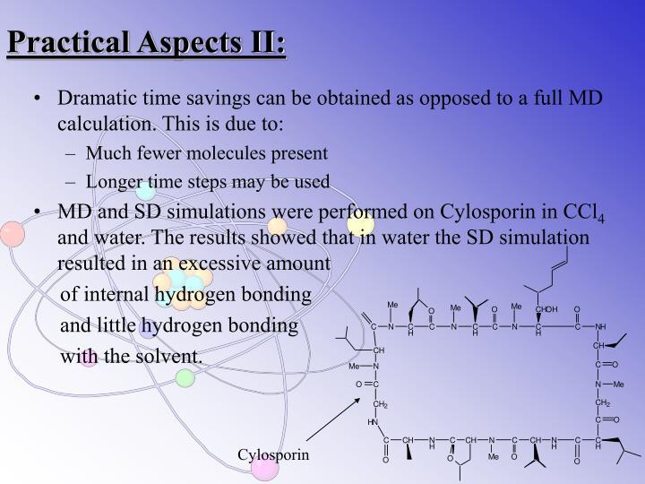 Practical Aspects II:
