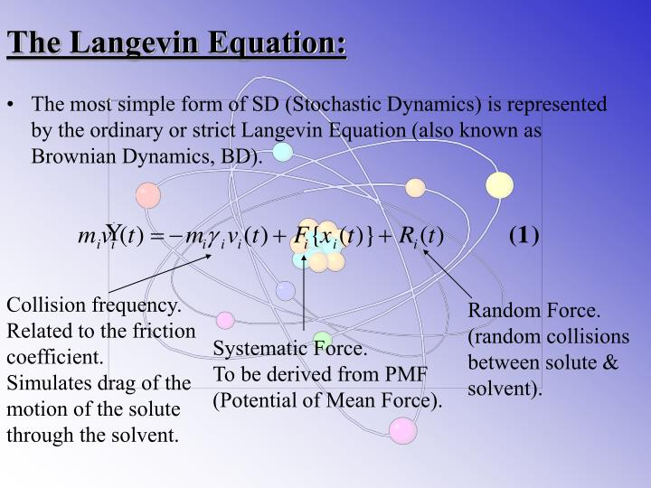 The Langevin Equation: