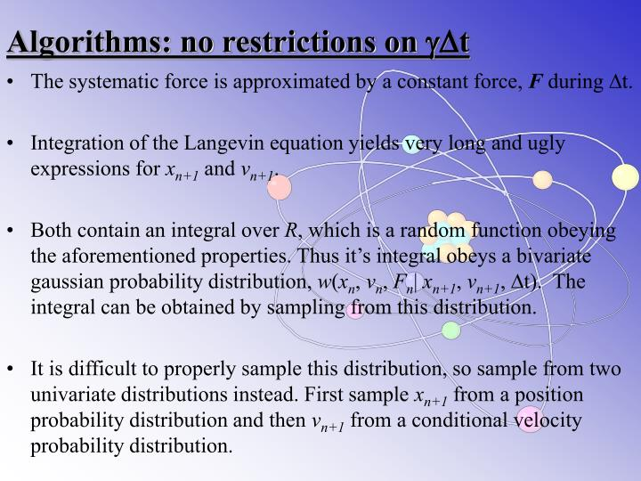 Algorithms: no restrictions on