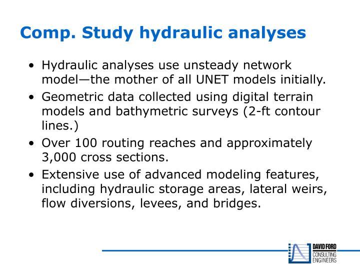 Comp. Study hydraulic analyses