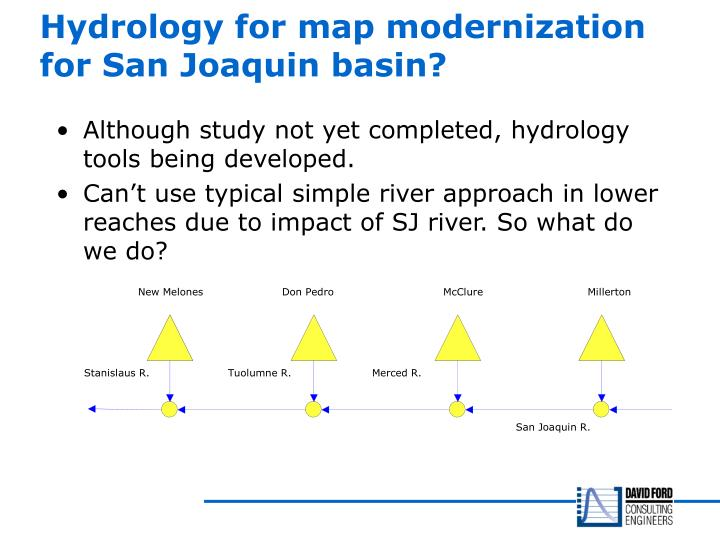 Hydrology for map modernization for San Joaquin basin?