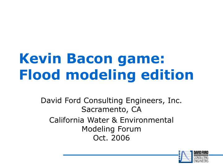 Kevin bacon game flood modeling edition