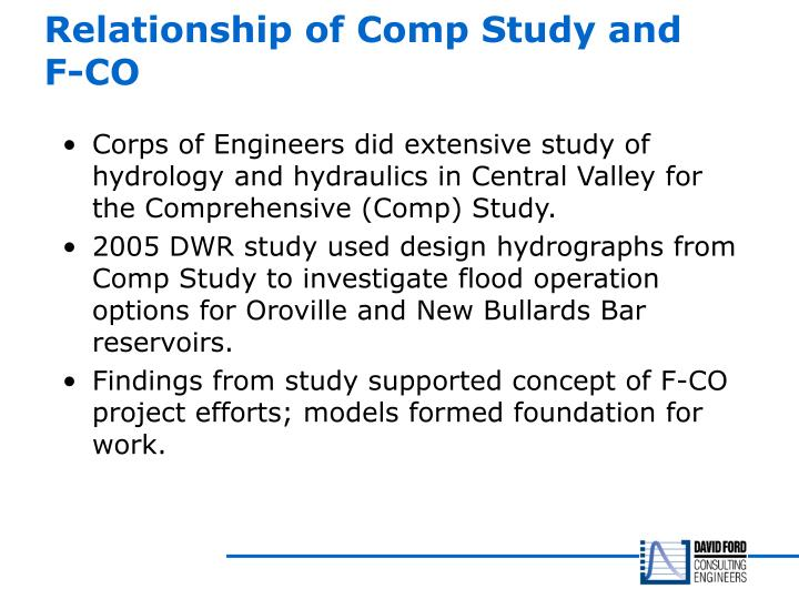 Relationship of Comp Study and