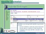 identifier information