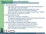 ways to retrieve information