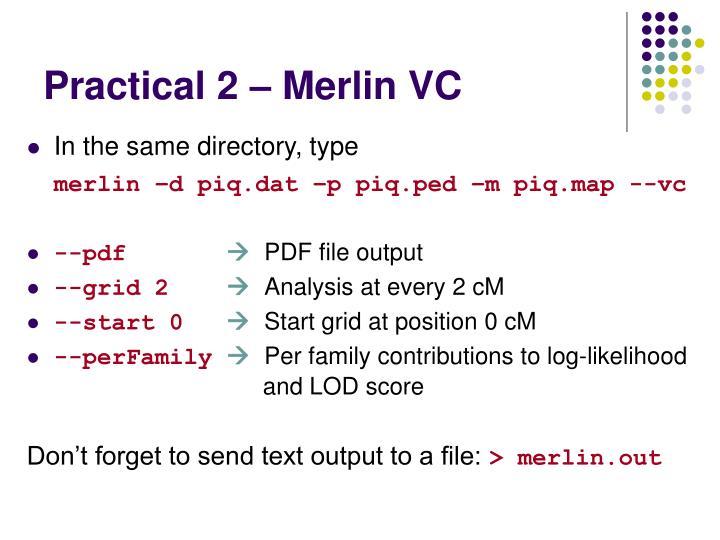 Practical 2 – Merlin VC