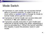 mode switch