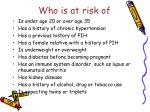 who is at risk of