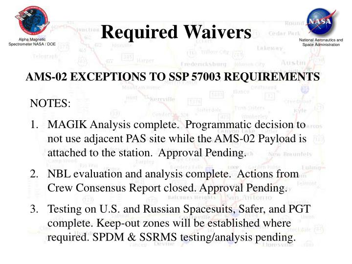 Required Waivers