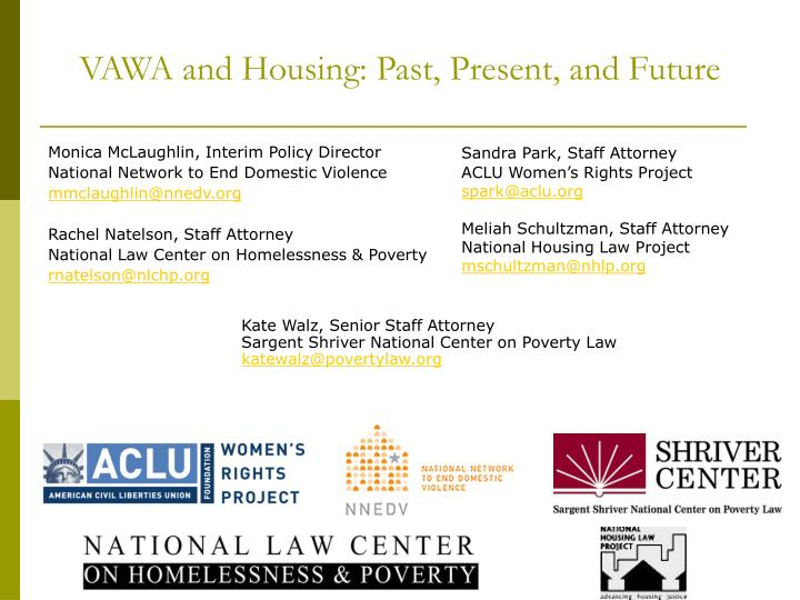 VAWA and Housing: Past, Present, and Future