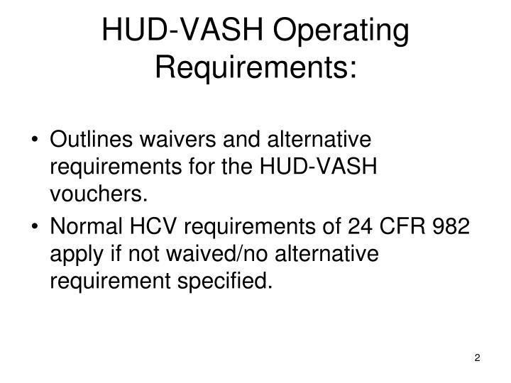 Hud vash operating requirements1