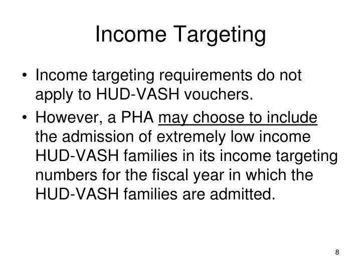 Income Targeting