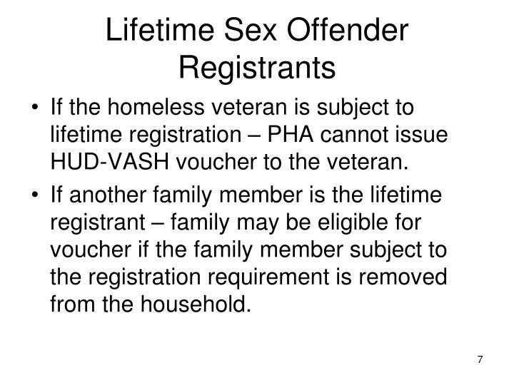 Lifetime Sex Offender Registrants