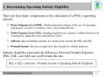 1 determining operating subsidy eligibility
