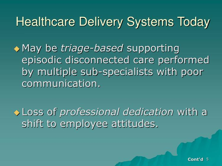 Healthcare Delivery Systems Today