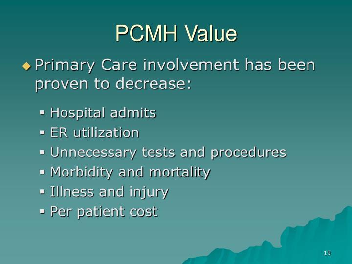 PCMH Value