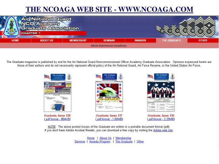 THE NCOAGA WEB SITE - WWW.NCOAGA.COM
