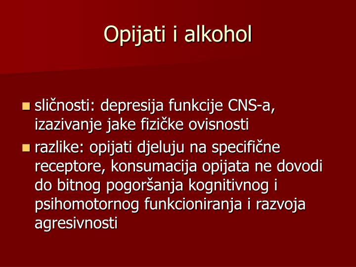 Opijati i alkohol