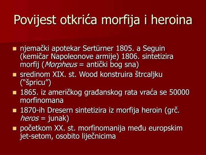 Povijest otkrića morfija i heroina