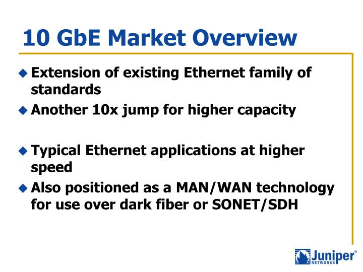 10 gbe market overview
