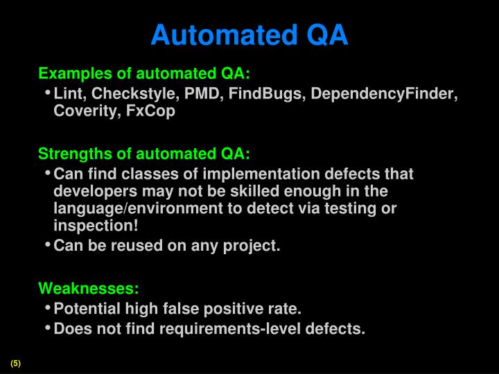 Automated QA