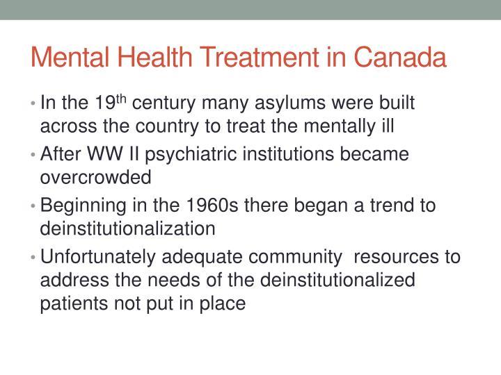 Mental Health Treatment in Canada