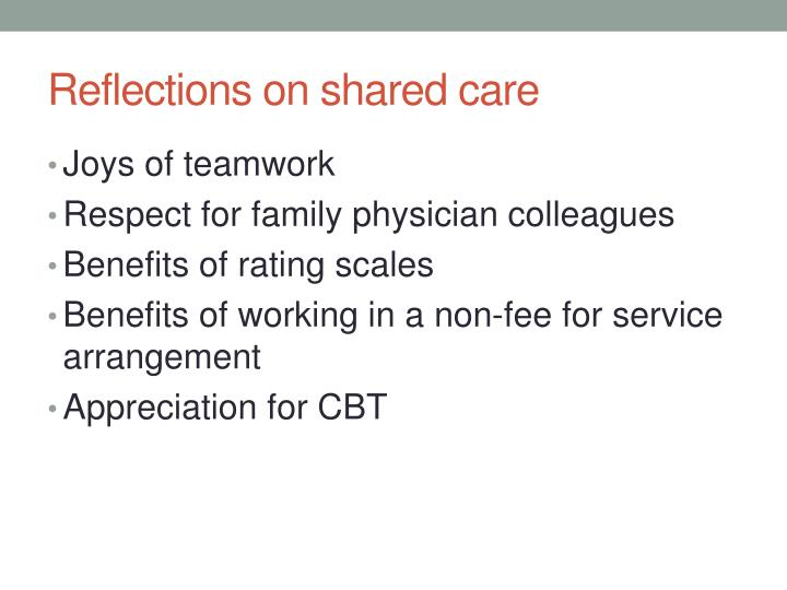 Reflections on shared care