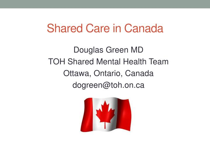 shared care in canada n.