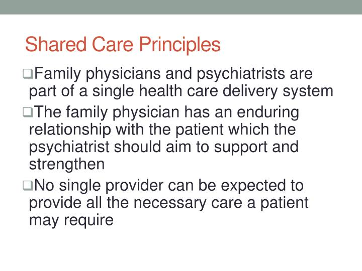 Shared Care Principles