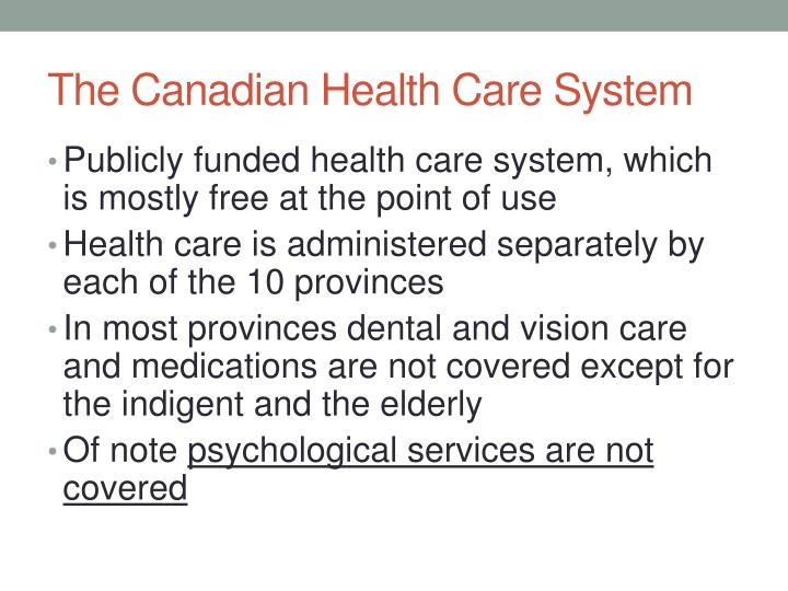 the canadian health care system Background briefing: the canadian health care system by benedict irvine, shannon ferguson and ben cackett this briefing is based on a report by stephen pollard.