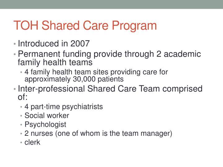 TOH Shared Care Program