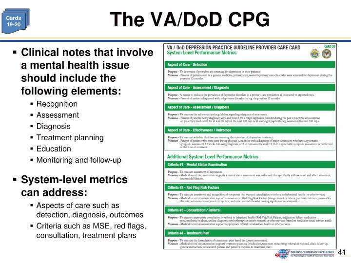 The VA/DoD CPG