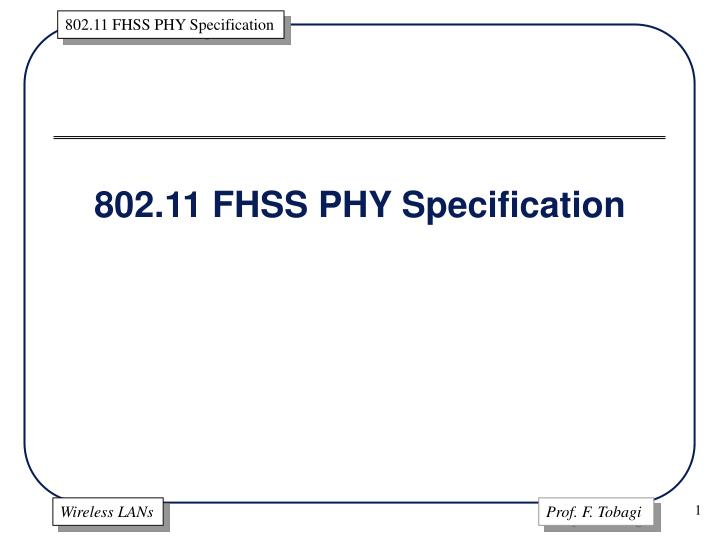 802 11 fhss phy specification