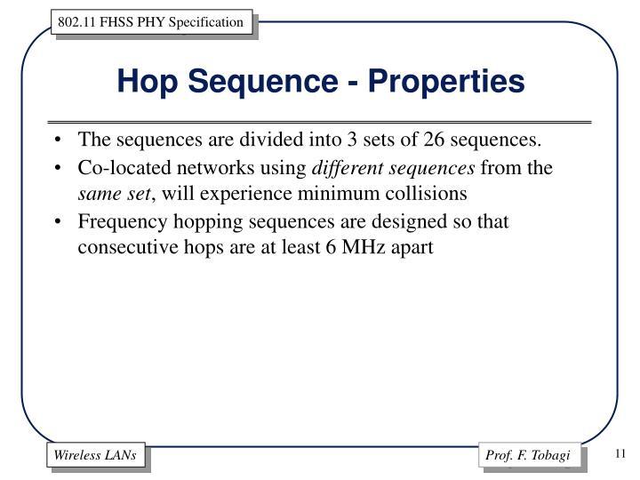 Hop Sequence - Properties