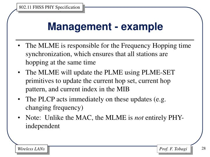 Management - example