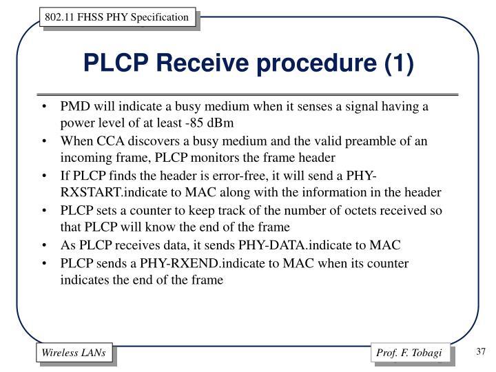 PLCP Receive procedure (1)