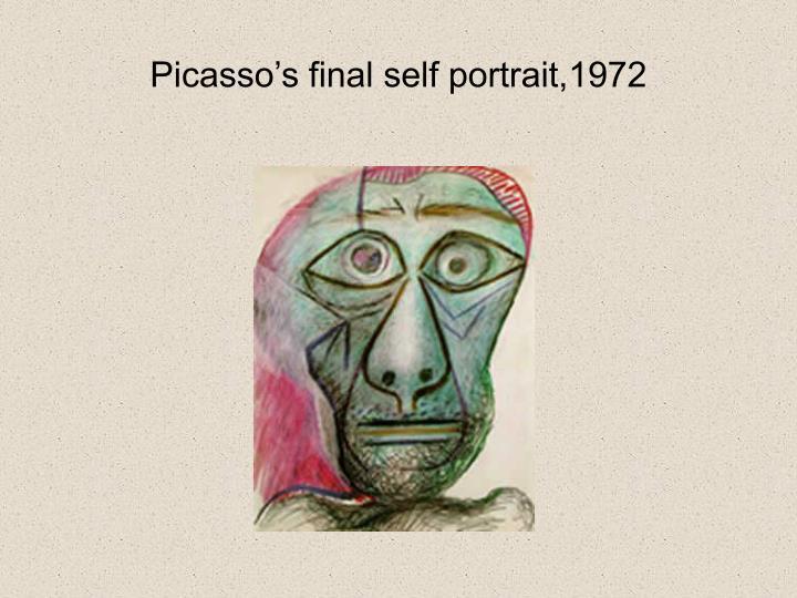 Picasso's final self portrait,1972