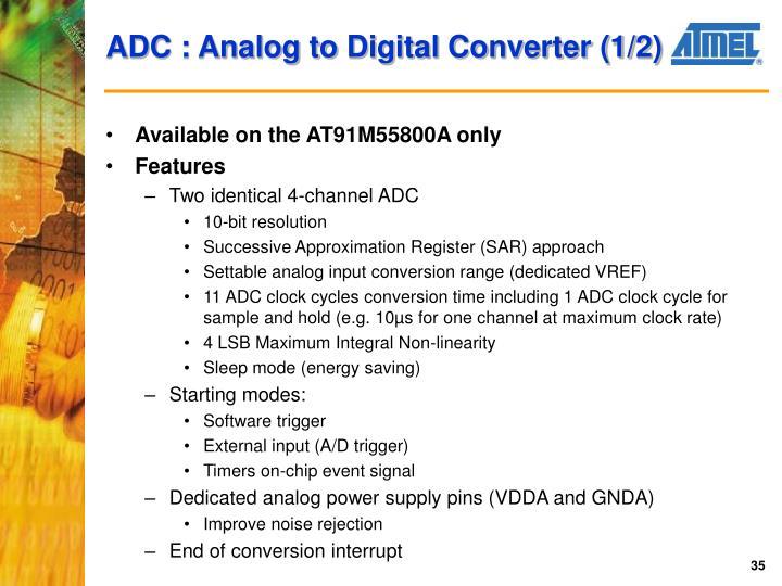 ADC : Analog to Digital Converter (1/2)