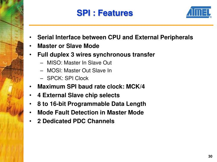 SPI : Features