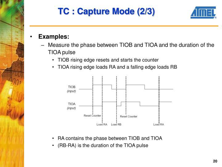 TC : Capture Mode (2/3)