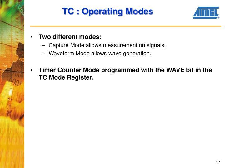 TC : Operating Modes