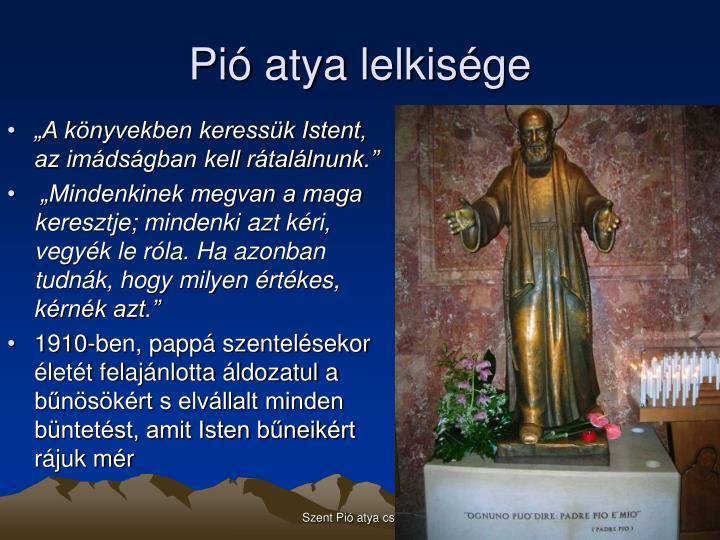 Pió atya lelkisége