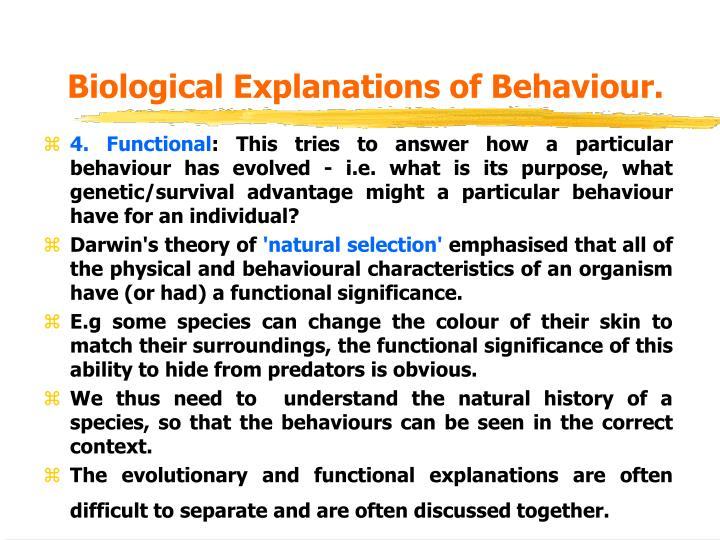 Biological Explanations of Behaviour.