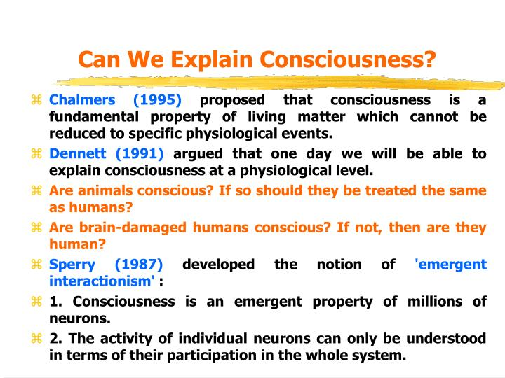 Can We Explain Consciousness?