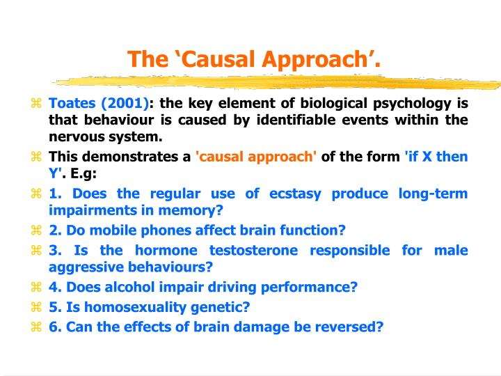 The 'Causal Approach'.