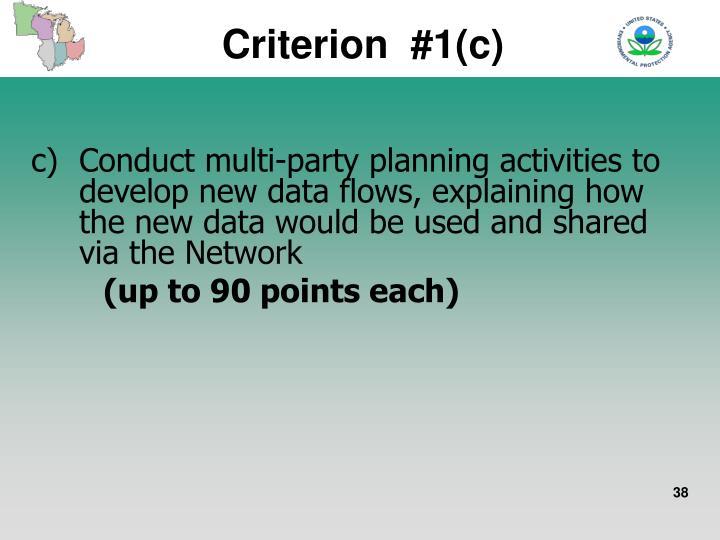 Criterion  #1(c)