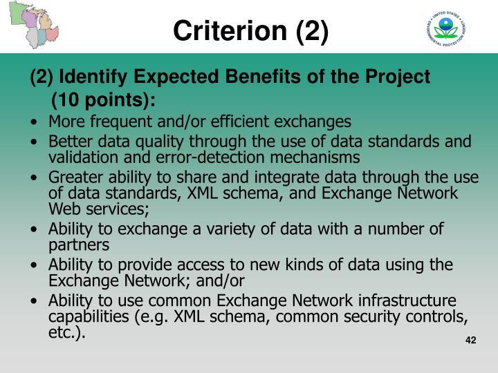 Criterion (2)