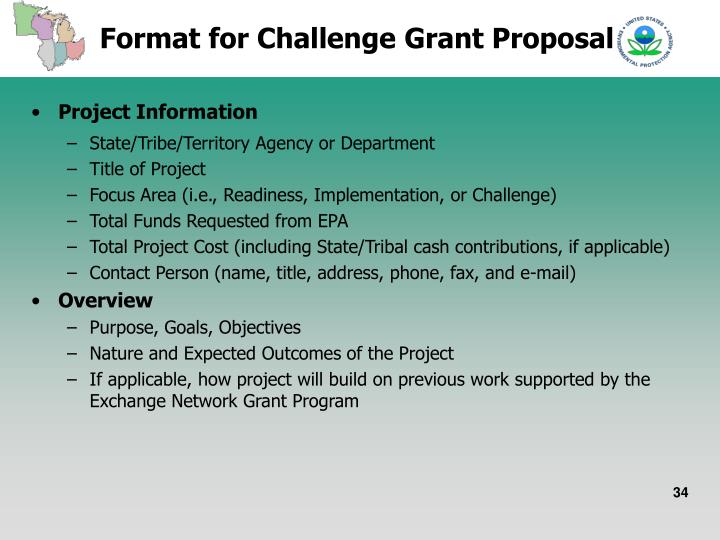 Format for Challenge Grant Proposal
